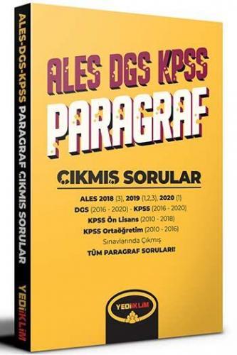 Yediiklim Yayınları ALES DGS KPSS İçin Paragraf Çıkmış Sorular Komis