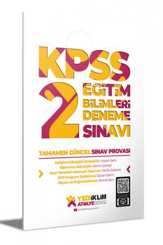 Yediiklim Yayınları Atölye Serisi KPSS Eğitim Bilimleri 2 Deneme Sınav