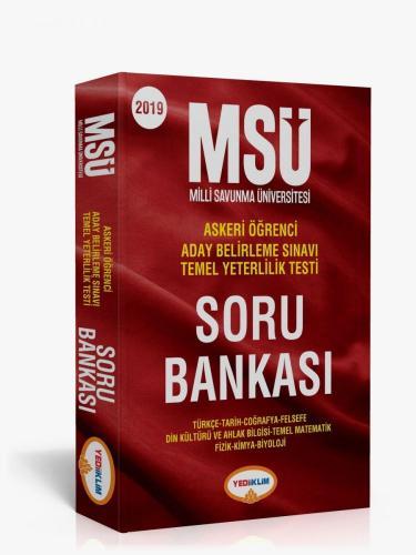 Yediiklim MSÜ Askeri Öğrenci Sınavlarına Hazırlık Soru Bankası