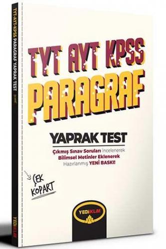 Yediiklim Yayınları TYT AYT KPSS Paragraf Çek Kopart Yaprak Test Kom