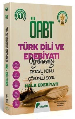 Yekta Özdil 2020 ÖABT Türk Dili ve Edebiyatı 1 Kitap Halk Edebiyatı Konu Anlatımlı Soru Bankası