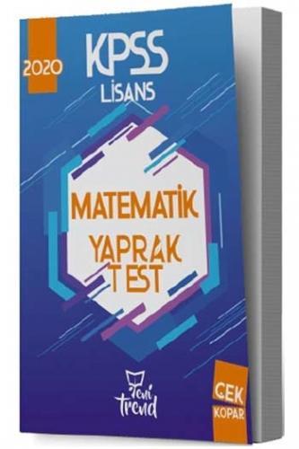 Yeni Trend Yayınları 2020 KPSS Matematik Yaprak Test %40 indirimli Kom