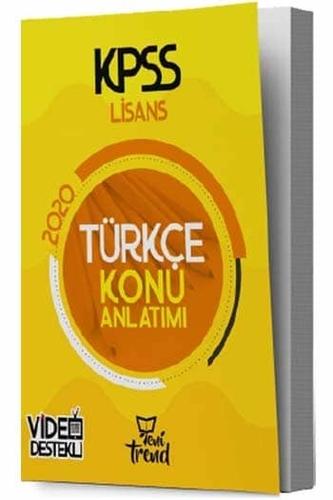 Yeni Trend Yayınları 2020 KPSS Türkçe Konu Anlatımlı Komisyon