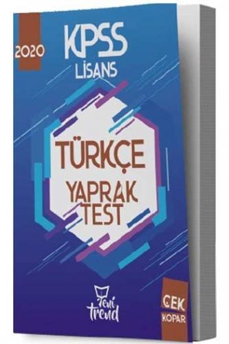 Yeni Trend Yayınları 2020 KPSS Türkçe Yaprak Test %40 indirimli Komisy