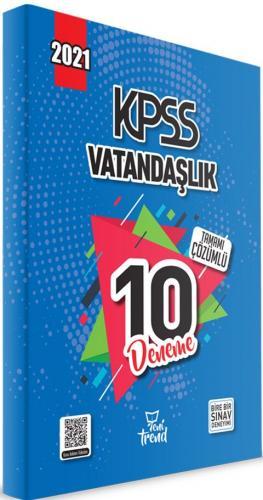 Yeni Trend 2021 KPSS Vatandaşlık Tamamı Çözümlü 10 Deneme Komisyon