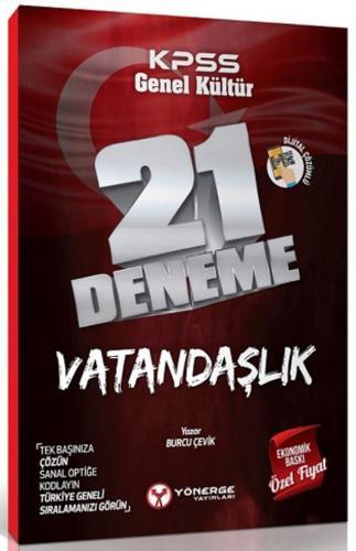 Yönerge Yayınları KPSS Vatandaşlık 21 Deneme Dijital Çözümlü