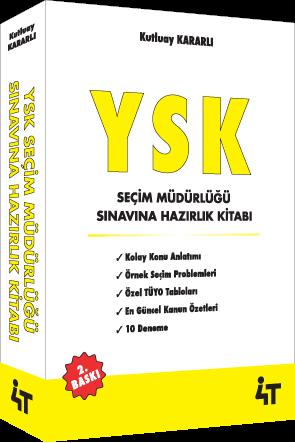 4T YSK Seçim Müdürlüğü Sınavına Hazırlık Kitabı %25 indirimli Kutluay