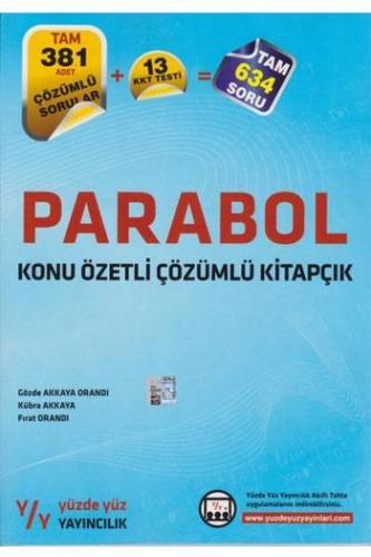 Yüzde Yüz Parabol Konu Özetli Çözümlü Kitapçık