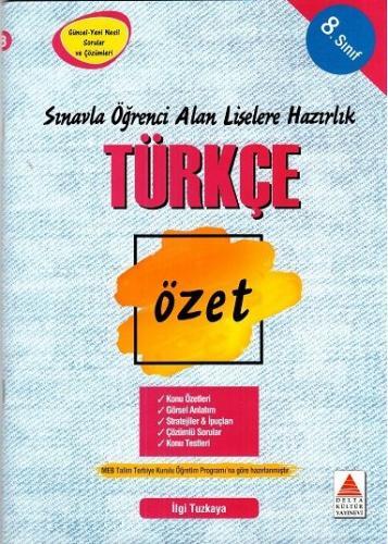 Delta Kültür 8. Sınıf Türkçe Özet