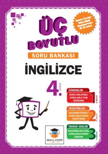 Zeka Küpü Yayınları 4. Sınıf İngilizce Üç Boyutlu Soru Bankası