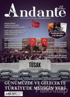 Andante Müzik Dergisi Sayı: 104 Yıl: 12 Haziran 2015