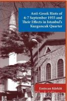 Anti-Greek Riots of 6-7 September 1955 and Their Effects in Istanbul's Kuzguncuk Quarter