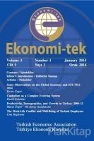 Ekonomi-tek Volume / Cilt: 3 No: 1 January / Ocak 2014