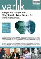 Varlık Aylık Edebiyat ve Kültür Dergisi Sayı : 1297 - Ekim 2015