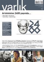 Varlık Aylık Edebiyat ve Kültür Dergisi Sayı: 1309 - Ekim 2016