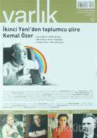 Varlık Aylık Edebiyat ve Kültür Dergisi Sayı : 1319 - Ağustos 2017