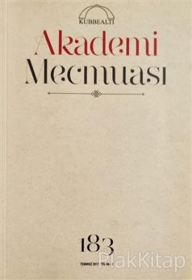 Akademi Mecmuası Sayı: 183