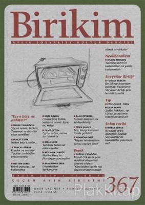 Birikim Aylık Sosyalist Kültür Dergisi Sayı: 367 Kasım 2019 Kolektif