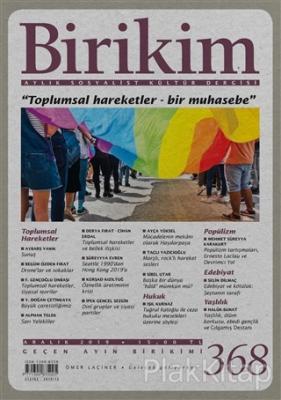 Birikim Aylık Sosyalist Kültür Dergisi Sayı: 368 Aralık 2019 %12 indir