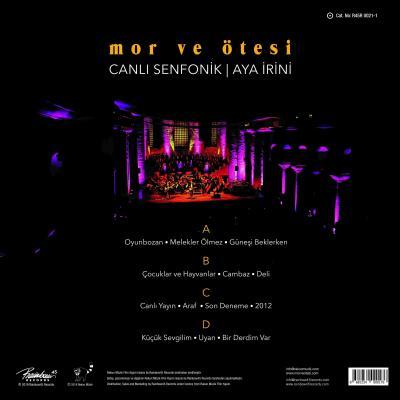 Canlı Senfonik / Aya İrini (Plak) Mor ve Ötesi