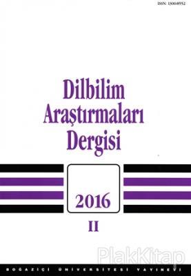 Dilbilim Araştırmaları Dergisi 2016 - 2 Kolektif