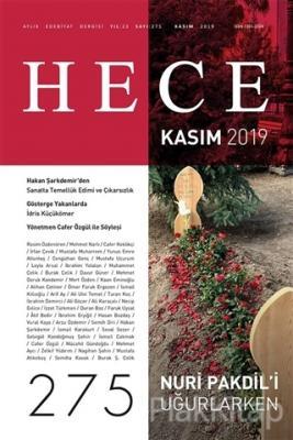 Hece Aylık Edebiyat Dergisi Sayı: 275 Kasım 2019 Kolektif