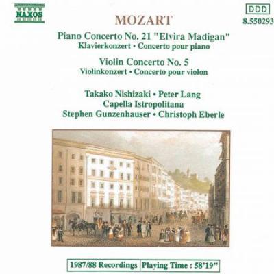 Mozart: Piano Concerto No. 21 / Violin Concerto No. 5 (CD)