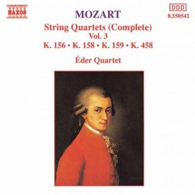 Mozart: String Quartets, K. 156, K. 158-159 and K. 458 (CD)