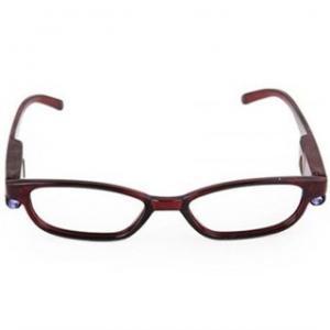Işıklı Kitap Okuma Gözlüğü - Bordo