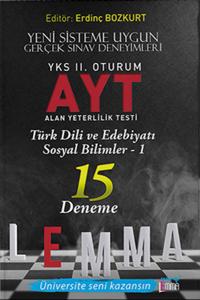 Yargı Lemma YKS 2. Oturum AYT Türk Dili ve Edebiyatı Sosyal Bilimler 1x15 Deneme