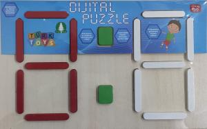Şahcan Toys Ahşap Dijital Puzzle