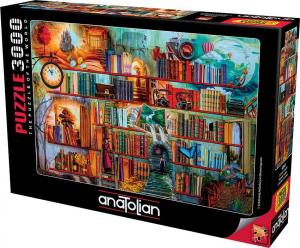 Anatolian 3000 Parça Puzzle Gizemli Kitaplık