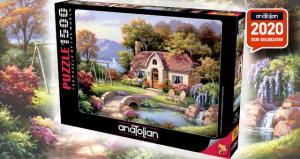 Anatolian 1500 Parça Puzzle Taş Köprü Konağı