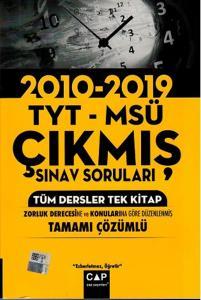 Çap TYT MSÜ Tüm Dersler Tek Kitap Tamamı Çözümlü Çıkmış Sınav Soruları 2010 - 2019
