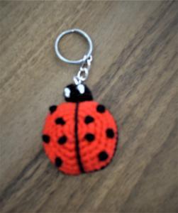 Oyuncak Amigurumi Anahtarlık Uğur Böceği Kırmızı