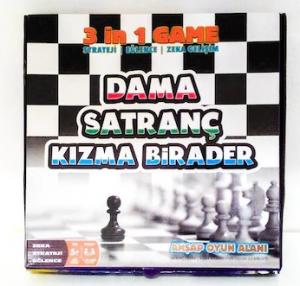 Hobi Dama - Satranç - Kızma Birader 3'lü Oyun