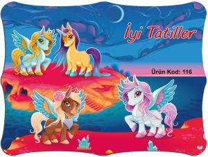 Karne Kılıfı Unicorn Temalı 10'lu Paket