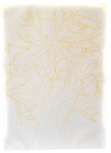 Kumtoys Ağaç Dalında Ev Desenli Tuval Boyama Seti 25x35