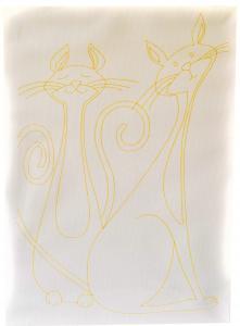 Kumtoys İki Kedi Desenli Tuval Boyama Seti 25x35