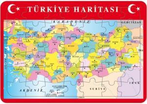 Yapboz Türkiye İller Haritası / 25 x 35 cm