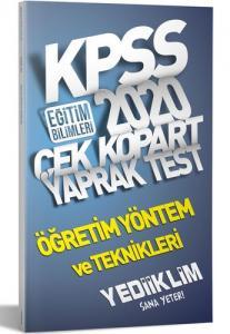 Yediiklim KPSS Eğitim Bilimleri Öğretim Yöntem ve Teknikleri Yaprak Test 2020