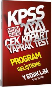 Yediiklim KPSS Eğitim Bilimleri Program Geliştirme Çek Kopart Yaprak Test 2020