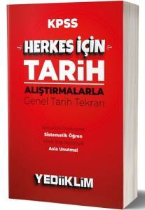 Yediiklim Yayınları KPSS Herkes İçin Tarih - Alıştırmalarla Genel Tarih Tekrarı 2020