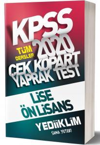 Yediiklim KPSS Tüm Dersler Çek Kopart Yaprak Test 2020
