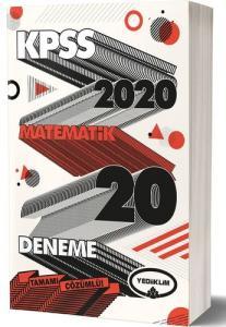 Yediklim KPSS GK GY Matematik Tamamı Çözümlü 20 Deneme