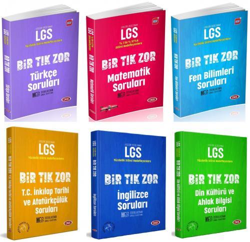 Data 8. Sınıf LGS Bir Tık Zor Tüm Dersler Soru Bankası Seti 6 Kitap