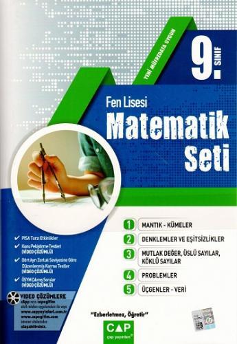 Çap Yayınları 9. Sınıf Fen Lisesi Matematik Seti %15 indirimli