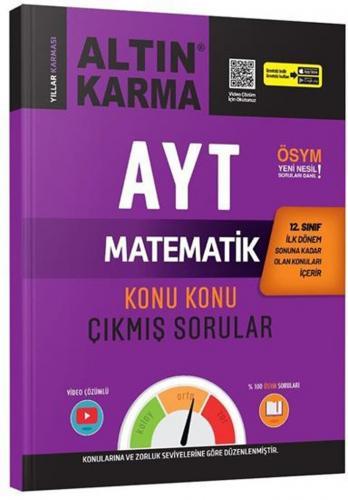 Altın Karma AYT 12. Sınıf 1. Dönem Matematik Konu Konu Çıkmış Sorular