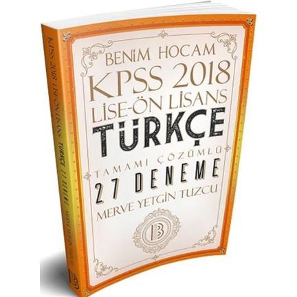 Benim Hocam KPSS 2018 Lise - Önlisans Türkçe 27 Deneme