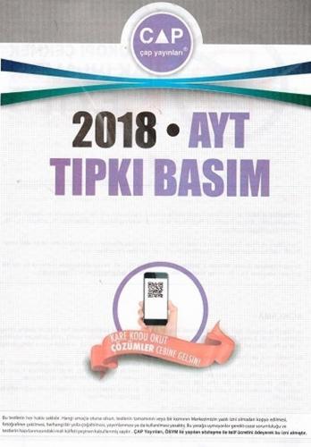 Çap Yayınları 2018 AYT Tıpkı Basım